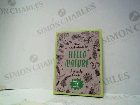 Lot 158 NINA CHAKRABARTI HELLO NATURE ACTIVITY CARD SET