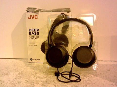 Lot 1241 JVC DEEP BASS WIRELESS BLUETOOTH HEADPHONES - BLACK