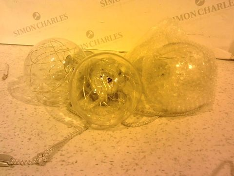 Lot 248 INDOOR/OUTDOOR SET OF 3 PULL CORD LIGHTBULBS WITH COLOUR CHANGE FUNCTION