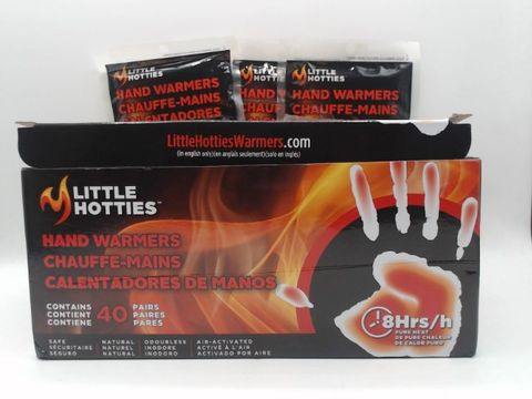 Lot 4003 LOT OF APPROXIMATELY 40 LITTLE HOTTIES HAND WARMERS