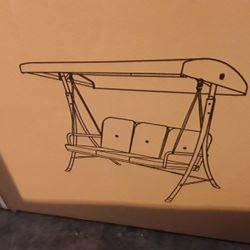Lot 7134 BOXED GARDEN SWING SEAT