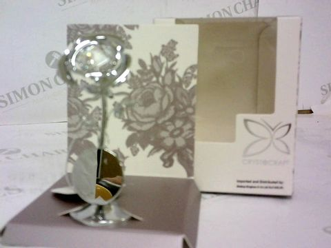 Lot 32 SWAROVSKI CRYSTAL ROSE 10CM RRP £25.00