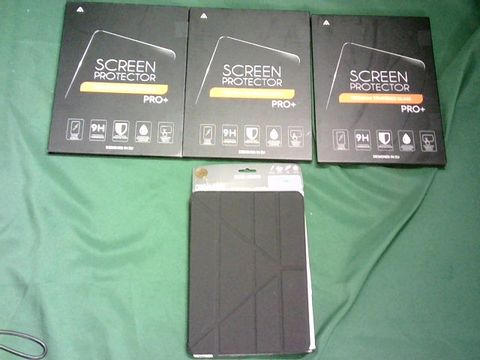 Lot 1044 LOT OF 3 TABLET SCREEN PROTECTORS + IPAD PRO 11 INCH CASE