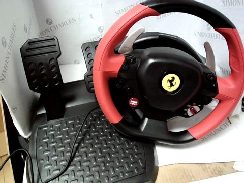 Lot 772 THRUSTMASTER FERRARI 458 SPIDER STEERING WHEEL KIT FOR XBOX ONE