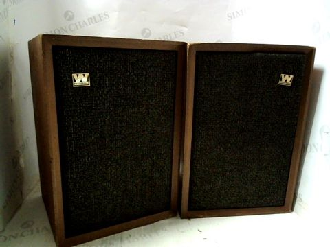 Lot 584 VINTAGE WHARFEDALE DENTON W20D SPEAKERS (PAIR)