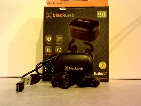 Lot 1008 BLACKWEB TRUE WIRELESS EARBUDS WITH CHARGING CASE- BLUETOOTH