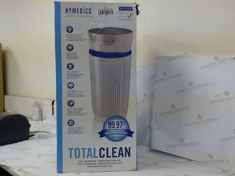 Lot 16210 BOXED HOMEDICS TOTAL CLEAN 5-IN-1 AIR PURIFIER