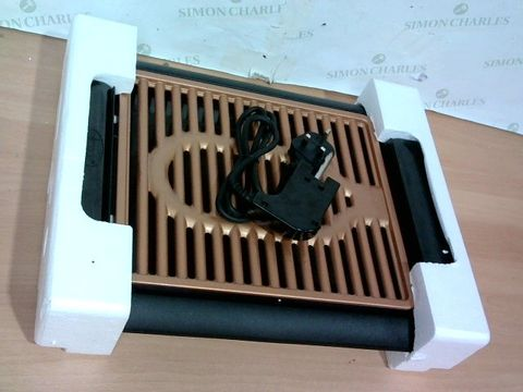Lot 3385 GOTHAM STEEL COPPER NON-STICK ELECTRIC INDOOR GRILL