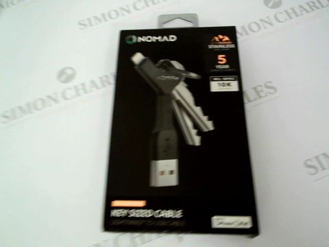 Lot 2405 BRAND NEW NOMAD KEY SIZED CABLE - LIGHTNING TO USB CABLE IPHONE/IPAD