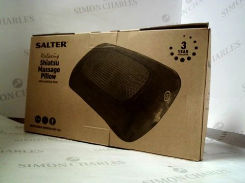 Lot 8363 SALTER RELAXING SHIATSU MASSAGE PILLOW WITH SOOTHING HEAT
