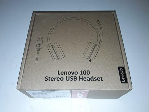 Lot 1243 LENOVO 100 STEREO USB HEADSET