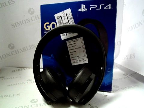 Lot 4038 PLAYSTATION 4 GOLD WIRELESS HEADPHONES RRP £89.99