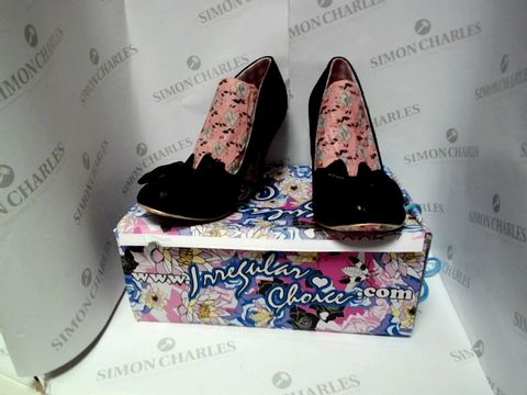 Lot 13054 BOXED PAIR OF DESIGNER IRREGULAR CHOICE HEELS - UK SIZE 7