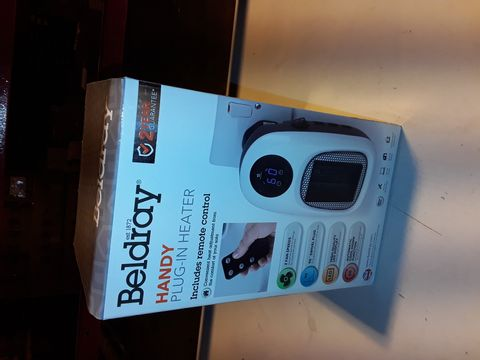 Lot 3217 BELDRAY HANDY PLUG-IN HEATER WITH REMOTE CONTROL