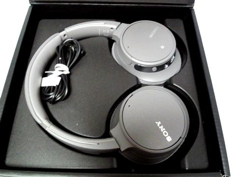 Lot 823 SONY WH-CH700N WIRELESS BLUETOOTH NOISE CANCELLING HEADPHONES - GREY