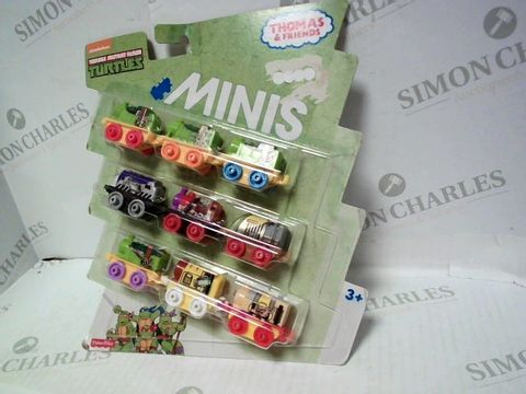 Lot 44 THOMAS AND FRIENDS TEENAGE MUTANT NINJA TURTLES MINIS  3+