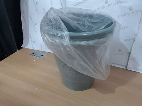 Lot 1055 PAIR OF OLIVE GREEN 30CM PLANTERS RRP £28.99