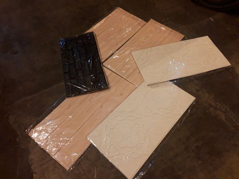 Lot 13549 PALLET OF ASSORTED BRAND NEW ADHESIVE INTERIOR DECORATIONS