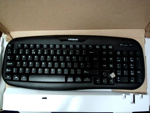 Lot 17318 POLAROID WIRELESS KEYBOARD