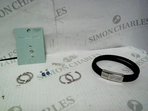 """Lot 4337 LOT OF APPROXIMATELY 6 ASSORTED JEWELLERY ITEMS, TO INCLUDE ACCESSORIZE SILVER EARRINGS, LOVE SILVER """"CHLOE"""" NECKLACE, TREAT REPUBLIC """"SSB"""" BRACELET, ETC RRP £136.00"""