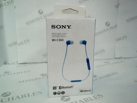 Lot 2445 BRAND NEW BOXED SONY WI-C300 BLUETOOTH WIRELESS HEADSET