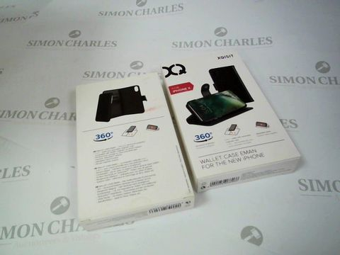 Lot 2635 BOX OF 22 X BRAND NEW BOXED XQISIT WALLET CASE EMAN FOR IPHONE X