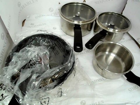Lot 9044 TEFAL COMFORT MAX, STAINLESS STEEL, POTS AND PANS, INDUCTION SET