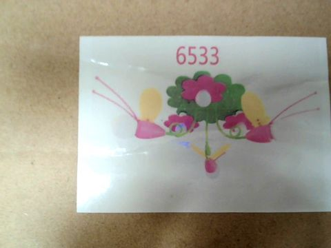 Lot 33 MULTICOLOURED BEES AND FLOWER 3 LIGHT CEILING LIGHT