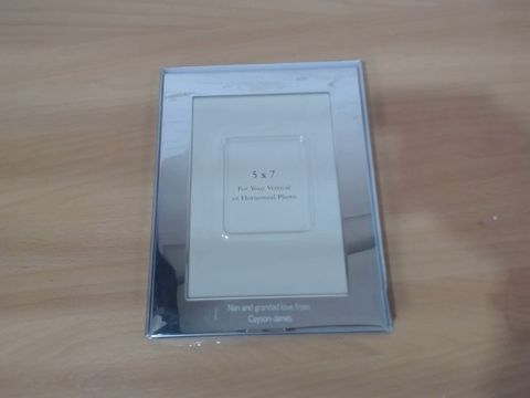 Lot 1054 PERSONALISED SILVER PHOTO FRAME  RRP £20.00