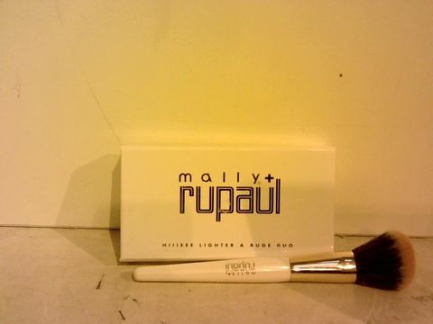 Lot 1517 MALLY X RUPAUL HIIEEE-LIGHTER & RUGE DUO & BLUSH BRUSH