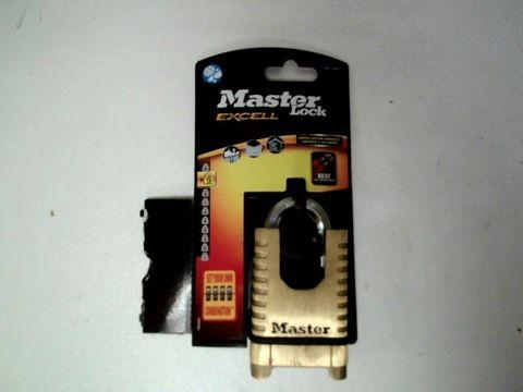 Lot 171 MASTER LOCK M1177EURD BRASS HEAVY DUTY SOLID PADLOCK