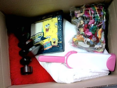 Lot 2327 BOX OF LARGE QUANTITY OF ASSORTED HOUSEHOLD ITEMS