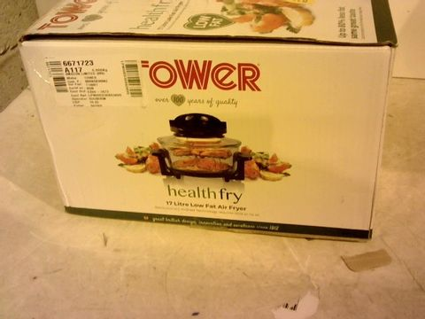 Lot 12060 TOWER HEALTH FRY 17L LOW FAT AIR FRYER