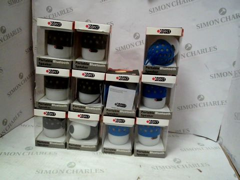 Lot 10441 LOT OF APPROXIMATELY 11 BRAND NEW OBJECT PORTABLE BLUETOOTH SPEAKERS IN BLUE AND BLACK