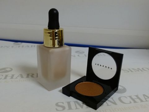 Lot 9441 BOX OF APPROXIMATELY 60 ASSORTED BRAND NEW MAKE UP ITEMS TO INCLUDE MISTY GLOW LIQUID HIGHLIGHTERS AND MORPH METALLIC EYESHADOWS