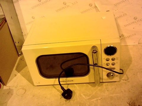 Lot 12402 MORPHY RICHARDS ACCENTS 20L 800W MICROWAVE CREAM