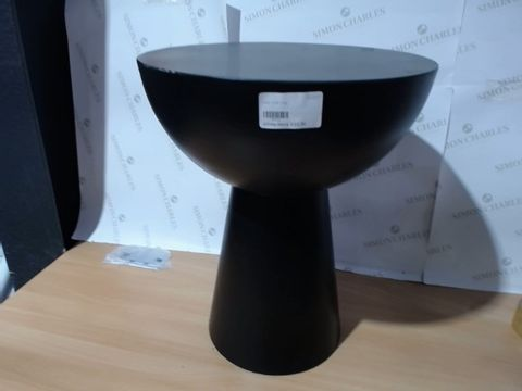 Lot 3275 BLACK ROUND SIDE TABLE