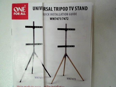 Lot 62 ONE FOR ALL UNIVERSAL TV STAND