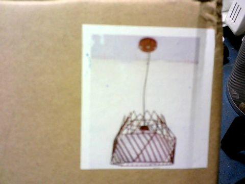 Lot 150 BOXED DESIGNER COFFEE PENDANT FRAME CEILING LIGHT