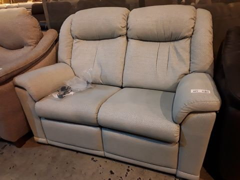 Lot 627 QUALITY BRITISH MANUFACTURED HARDWOOD FRAMED GREY FABRIC POWER RECLINING EASY CHAIR