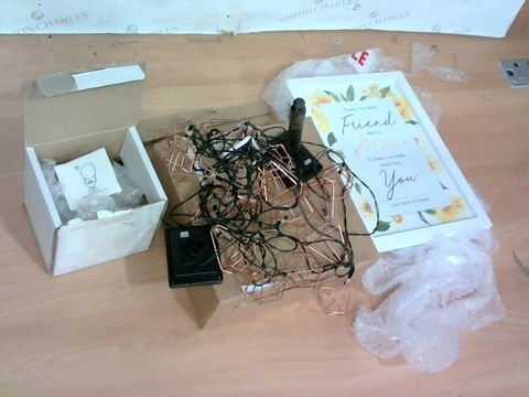 Lot 1361 LOT OF 3 ASSORTED HOUSEHOLD ITEMS - STRING LIGHTS & 2 MOTHERS DAY GIFTS