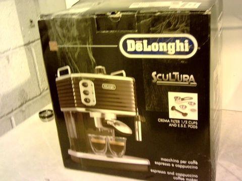Lot 12104 DELONGHI SCULTURA ESPRESSO & CAPPUCCINO COFFEE MAKER
