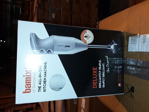 Lot 8255 BAMIX ALL IN ONE KITCHEN MACHINE DELUXE HAND BLENDER - WHITE