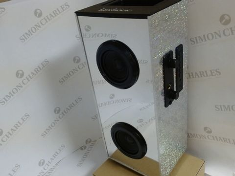 Lot 17073 PORTABLE SPEAKER WITH MICROPHONE AND LIGHTS
