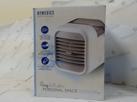 Lot 16209 BOXED HOMEDICS MY CHILL PLUS PERSONAL SPACE COOLER 2.0