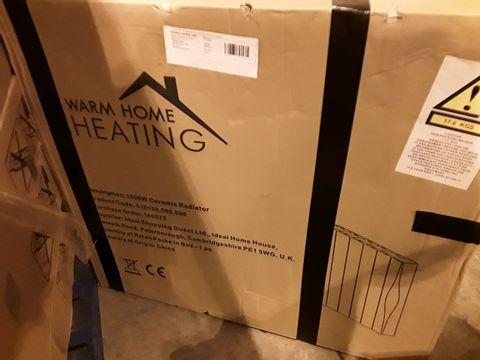 Lot 3404 BOXED WARM HOME 1500W CERAMIC RADIATOR