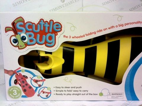 Lot 118 BOXED SCUTTLEBUG BUMBLEBEE RIDE-ON RRP £39.00