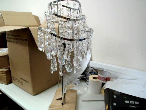 Lot 224 VINCENZA 3 TIER WAVE TABLE LAMP RRP £60.00