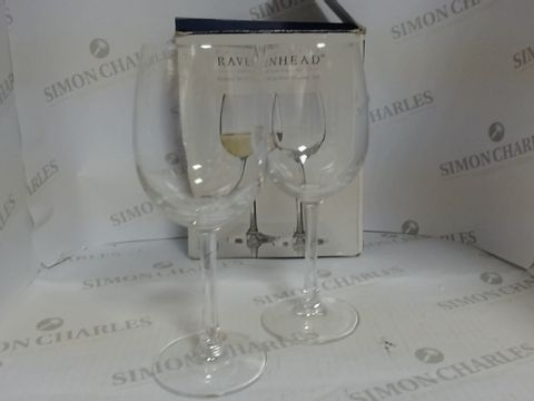 Lot 17146 SET OF TWO WHITE WINE GLASSES