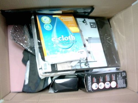 Lot 2328 BOX OF LARGE QUANTITY OF ASSORTED HOUSEHOLD ITEMS